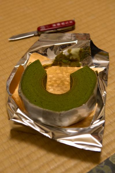 Macha-Baumkuchen
