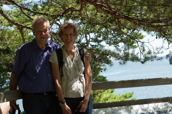 Thom und Sylvi mit Matsushima-Bay